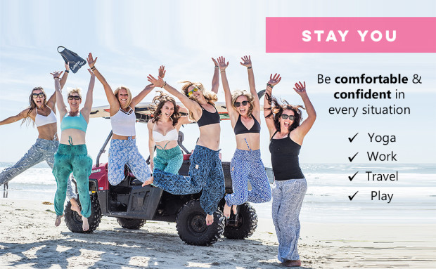 PIYOGA Pants - Stay You! Indie Go Go - PIYOGA Pants are designed to empower you to feel comfortable and confident on and off your yoga mat.