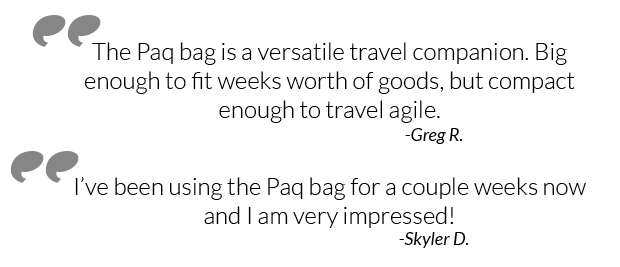 paq bag review quotes