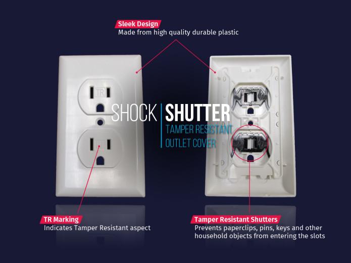 Shock Shutter Tamper Resistant Outlet Cover Indiegogo