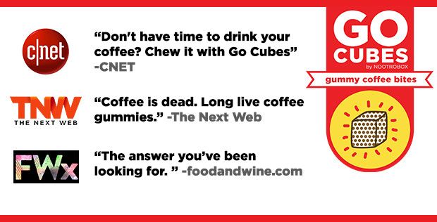 Go Cubes Chewable Coffee Indiegogo