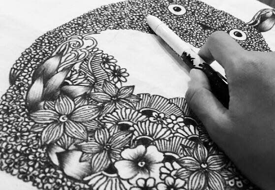 fantasy doodle artbook indiegogo