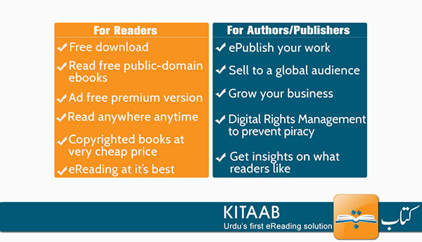 Kitaab 1st ereader epublisher for urdu language indiegogo urdu is worlds 3rd biggest language mixed with hindi by some analytics and is written right to left spoken primarily in pakistan india bangladesh fandeluxe Gallery