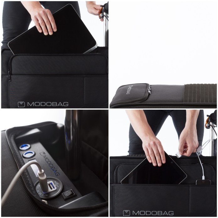 383c7512841 Modobag contains quick stow pockets for your laptop