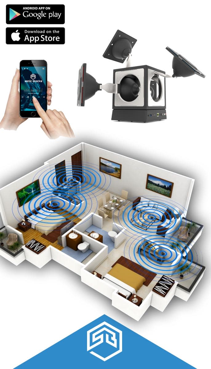 Sonic Blocks Worlds 1st Modular Wireless Speaker Indiegogo Surround Sound What To Expect When Wiring Your Home For The 21st Use App Setuo System Access Local And Online Music Libraries Control Individual Dsp Engines Exacting Timbral