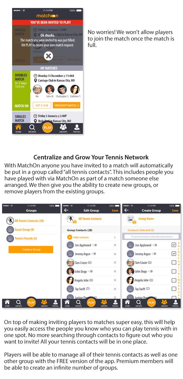 MatchOn: Your Virtual Tennis Club   Indiegogo