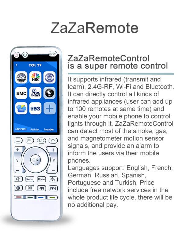 ZaZaRemote: IR,RF,Wi-Fi universal remote control | Indiegogo