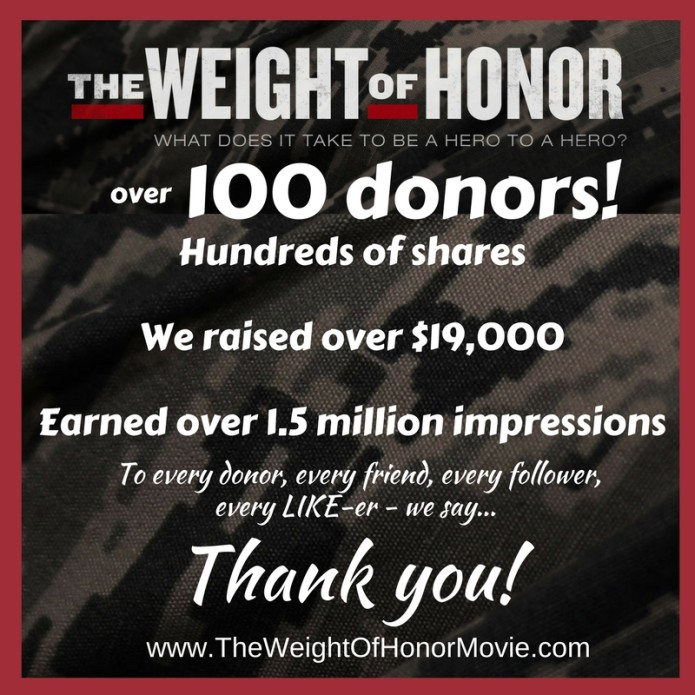 THE WEIGHT OF HONOR, Documentary - Finishing Funds | Indiegogo