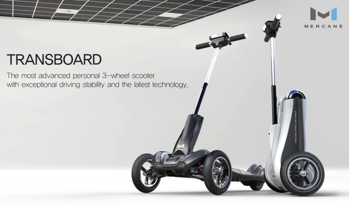 Transboard Foldable Electric 3 Wheel Scooter Indiegogo