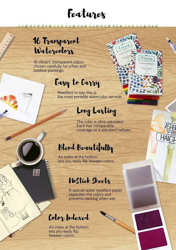 Viviva Colorsheets- The most portable watercolors! | Indiegogo
