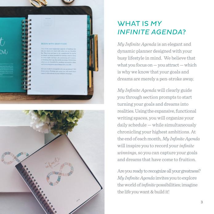 My Infinite Agenda  Indiegogo