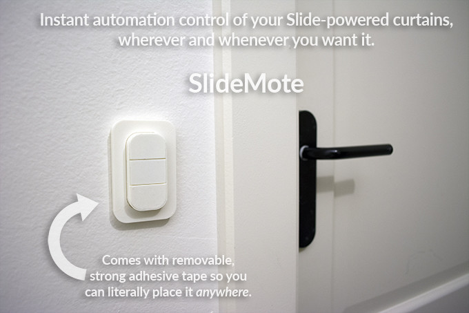 slide make your existing curtains smart indiegogo