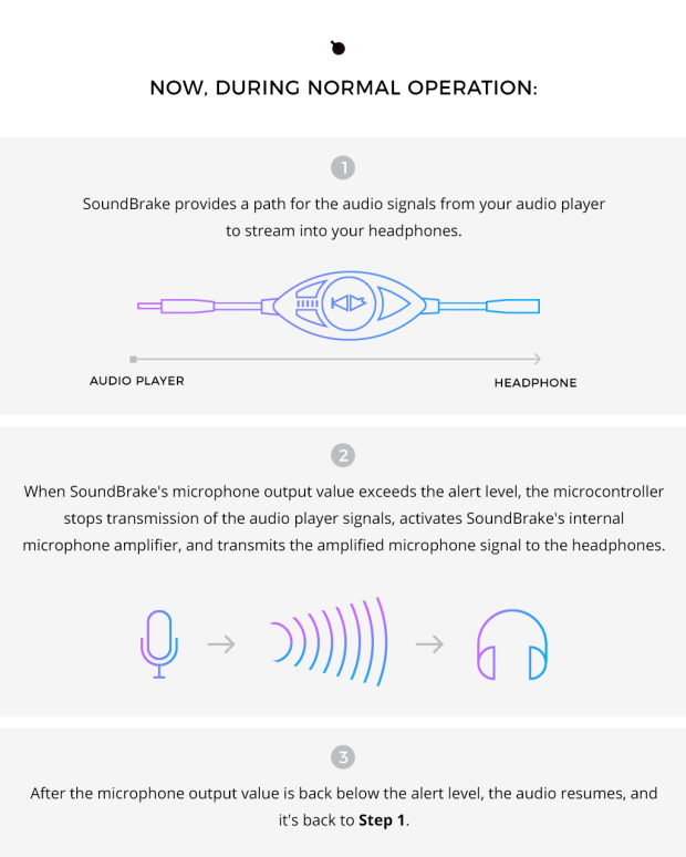 SoundBrake 2 0- Smart Awareness for Headphones | Indiegogo