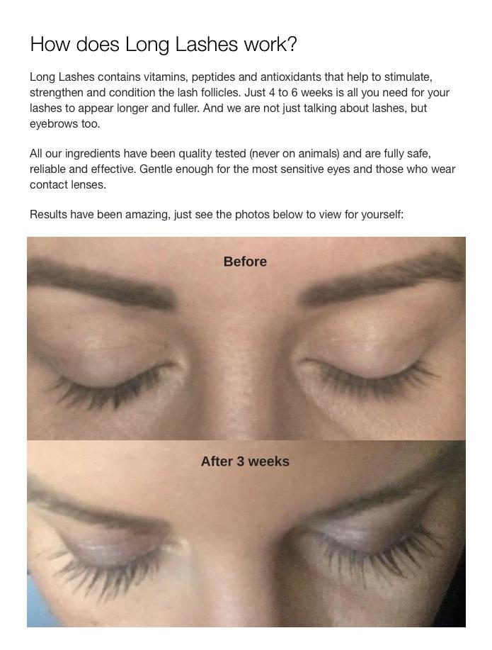 Long Lashes Eyelash Enhancer Indiegogo