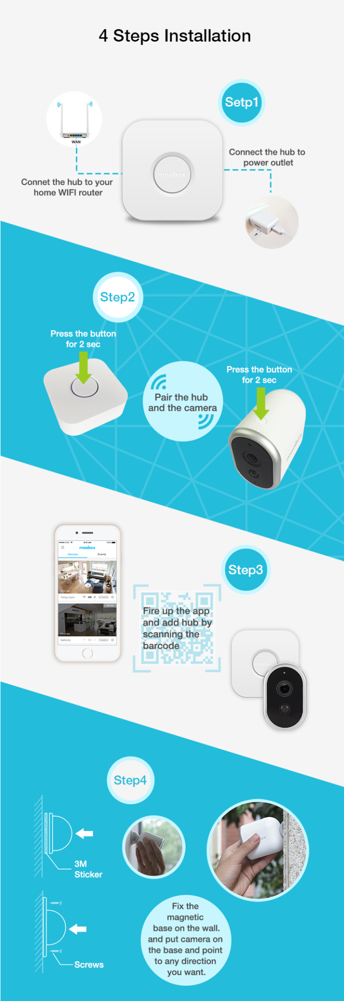 1st Truly Wire-Free Full HD 1080P Security Camera | Indiegogo