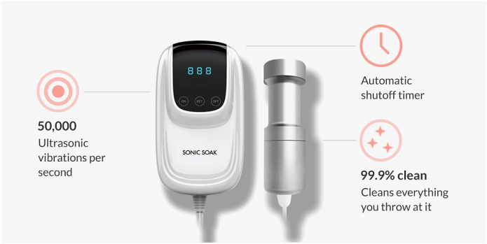 sonic soak the ultimate ultrasonic cleaning tool indiegogo