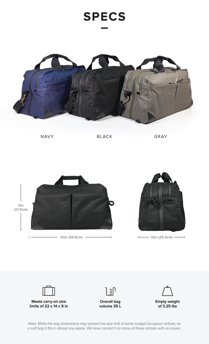 22a5c86a86d7 PAKT One  The Only Travel Bag You ll Ever Want