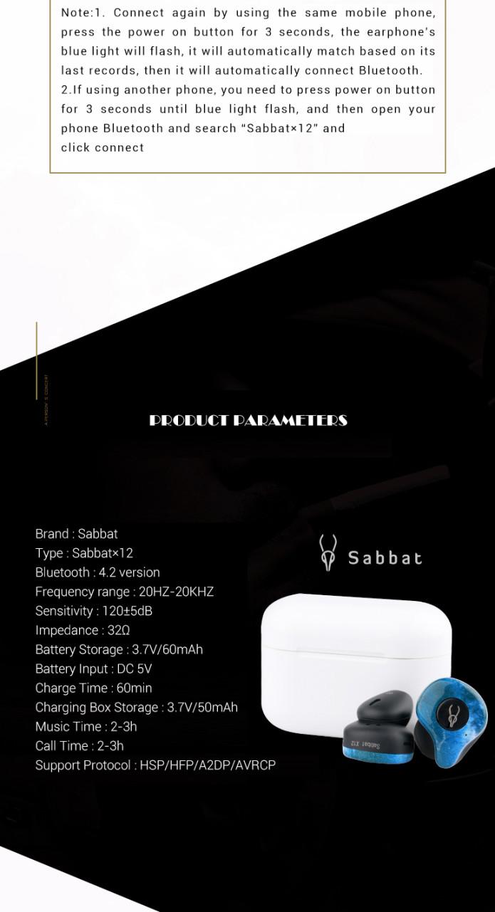 Sabbat X12-The Most Creative Wireless Earphones | Indiegogo