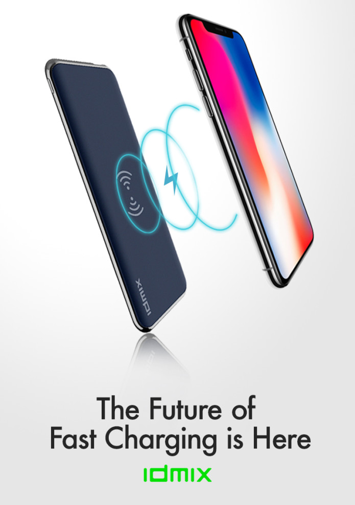 """Enjoy the peace of mind of never seeing """"Low Battery"""" on your phone ever  again. IDMIX is the world s fastest charging wired and wireless power bank. 2b5e2e02a7"""