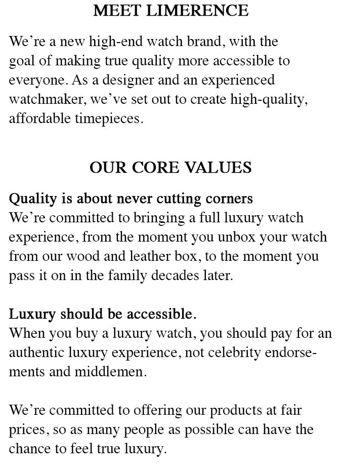 Limerence Watches | Indiegogo