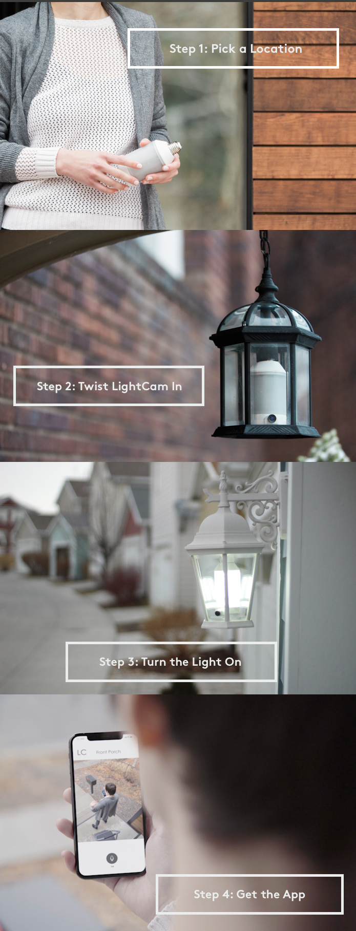l'ampoule intelligente avec caméra de surveillance