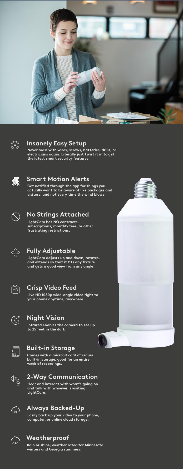 l'ampoule intelligente avec caméra de sécurité