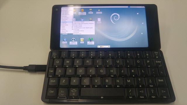 Gemini PDA смартфон на Linux
