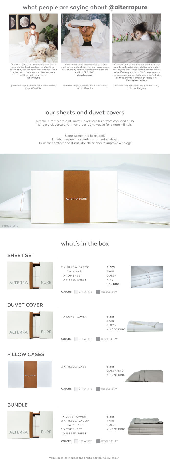 Alterra Pure: Organic Sheets, No Secrets | Indiegogo