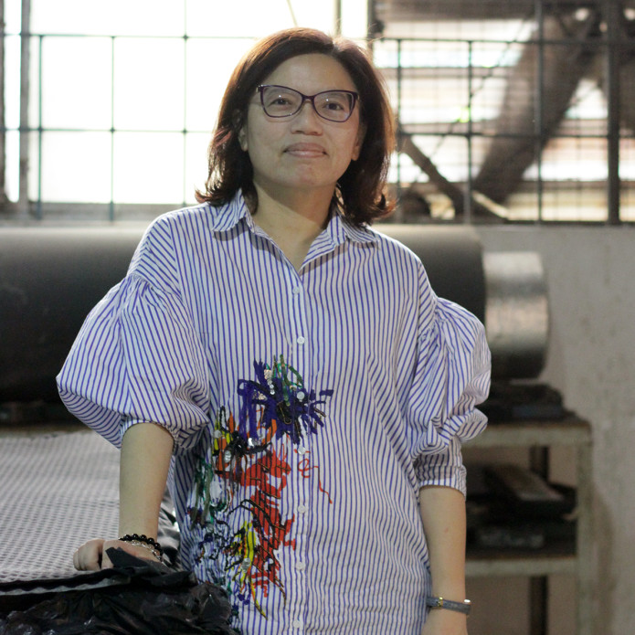Pakt factory manager Claire in Vietnam