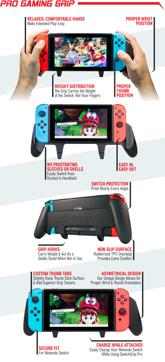 The Ultimate Gaming Grip for the Nintendo Switch | Indiegogo