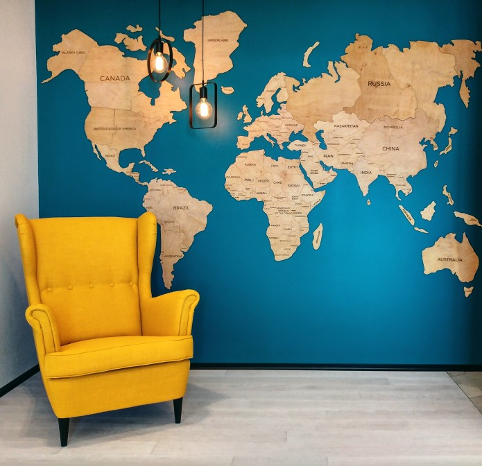 Laser Cut World Map.Travel Wooden World Map Original Wall Decor Indiegogo