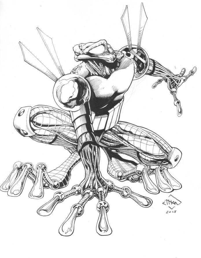 Ethan Van Sciver S Cyberfrog Bloodhoney Comic Book Indiegogo