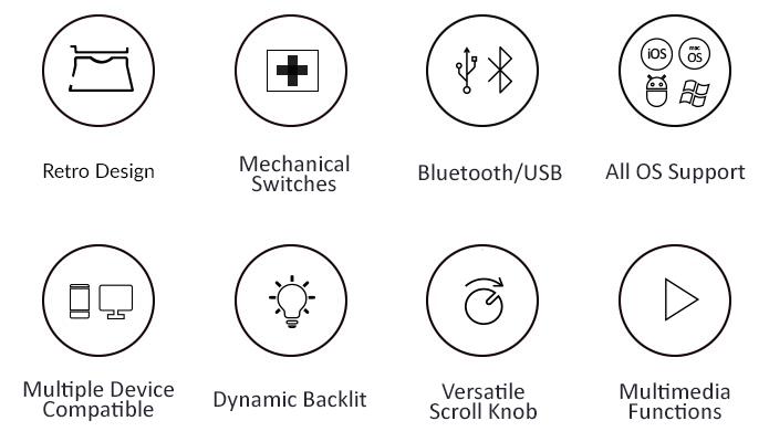 Rymek Retro Bluetooth Mechanical Keyboard | Indiegogo