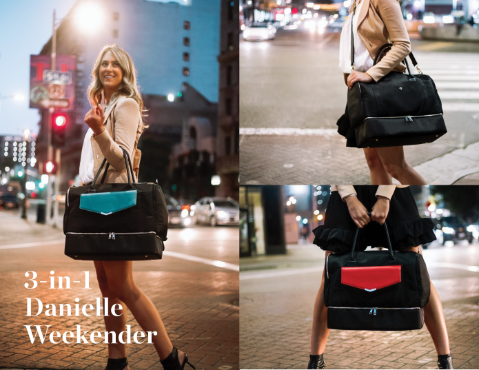 bc4b20b4fa08 This 3-in-1 bag is the new favorite travel buddy for women on-the-go  our  travel bag is the ideal TSA-friendly Weekender. The perfect travel bag with  a ...