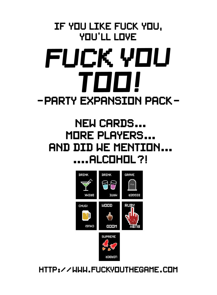 you fuck Drinking games