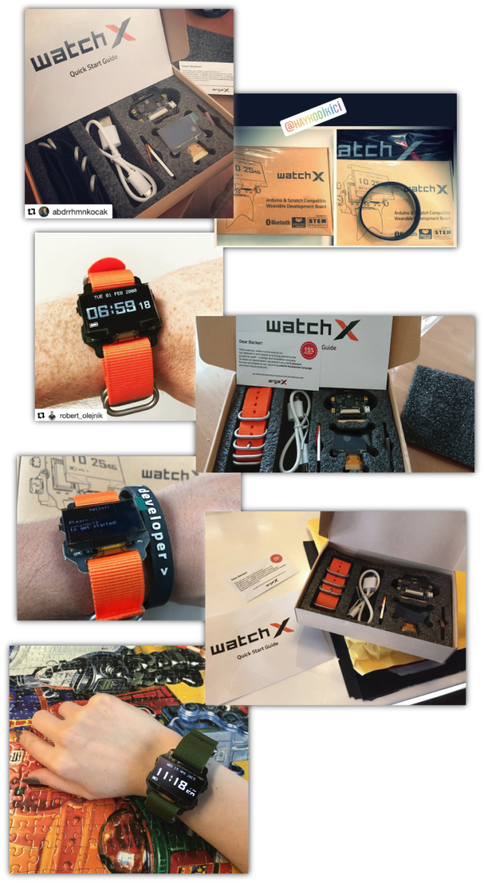 Watchx Wearable Development Platform Indiegogo Grosir Boxer Branded Box 210 Is Delivered To The Customers All Around World