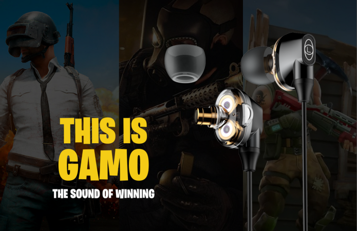 GAMO: First 3D Surround Sound Gaming Earphones