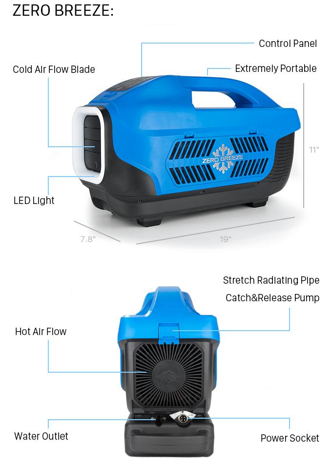 Zero Breeze - The World's Coolest Portable AC Unit | Indiegogo