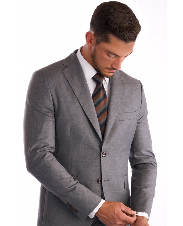 f8c6a9e2aea Cloth Ermenegildo Zegna - Light Gray Color Made in Italy - Classico Design  (notch lapel)