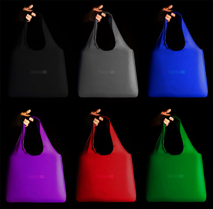 4e1744b1579 ... foldable reusable shopping bags. Available in black