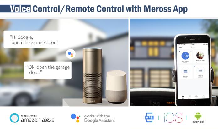 Meross Wi Fi Smart Garage Door Opener Phoneteid