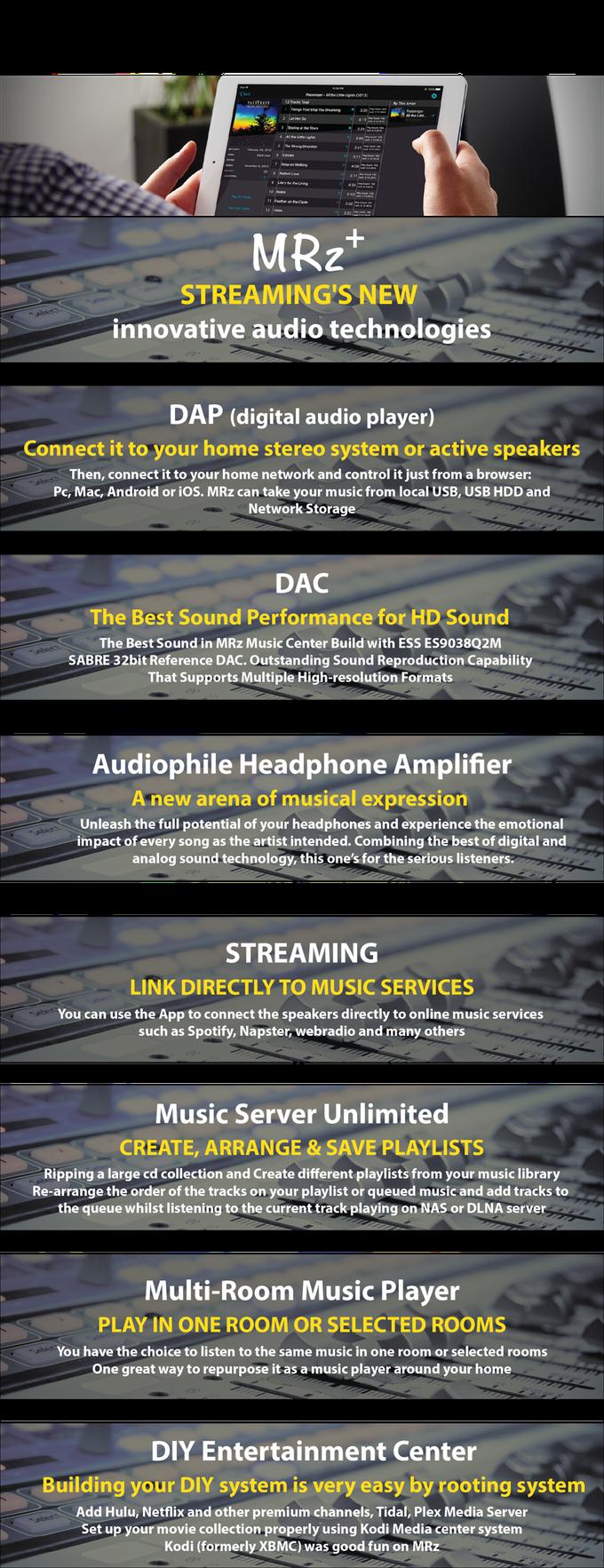 MRz UHD Music Server as the digital hub | Indiegogo