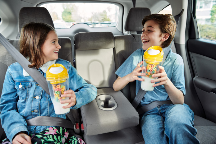 portable cereal to go cup