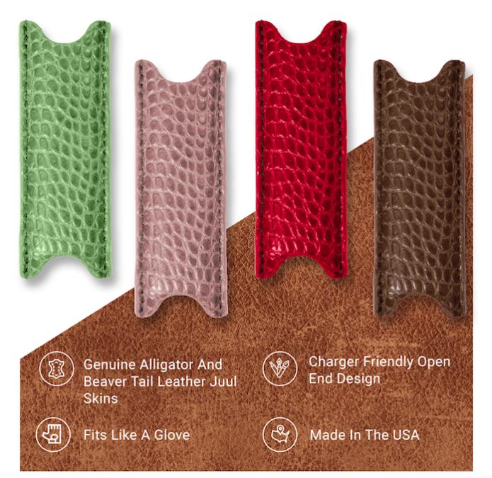 Custom Exotic Leather Juul Skins | Indiegogo