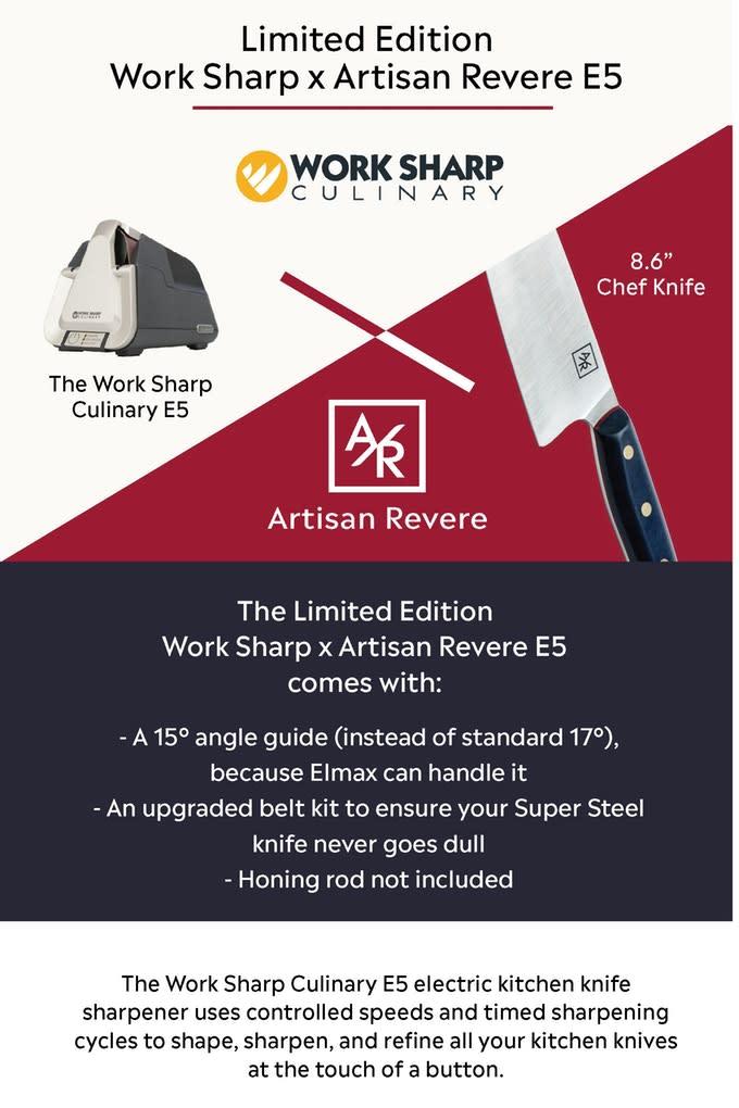 Artisan Revere: Elmax Super Steel Chef Knife   Indiegogo