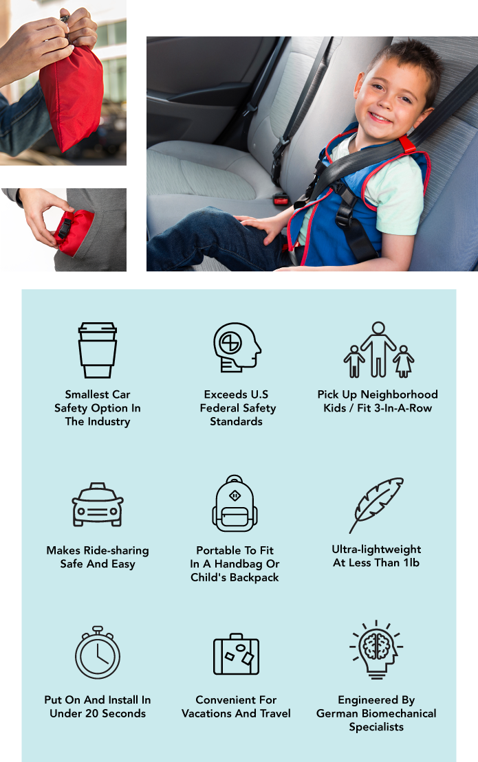 WhizRider: The Car Seat 25x Smaller Than A Booster | Indiegogo
