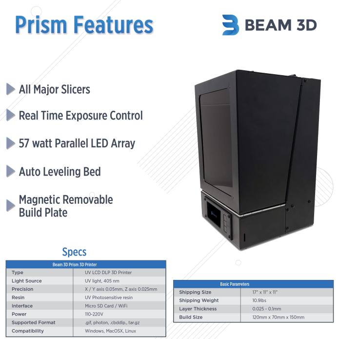 The Prism Desktop 3D Printer | Indiegogo
