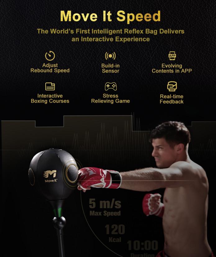 e609233d75a0 MoveItSpeed : World's 1st Smart Boxing Reflex Bag   Indiegogo