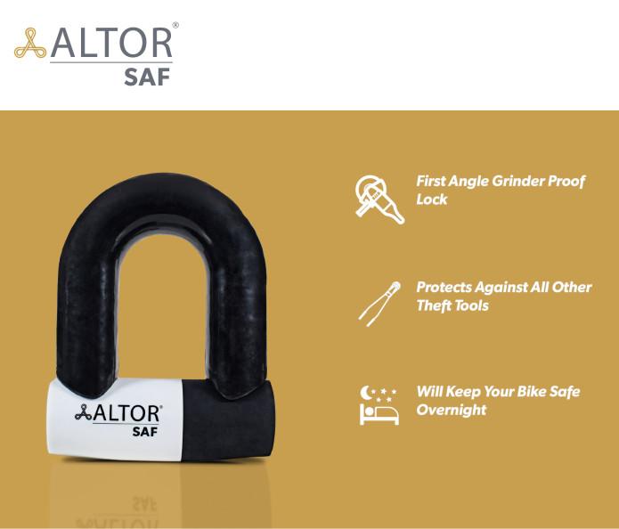 SAF Lock  The First Angle Grinder Proof Bike Lock | Indiegogo