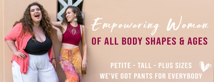 PIYOGA Pants are designed to empower women of all shapes and sizes from petite to tall to plus size.