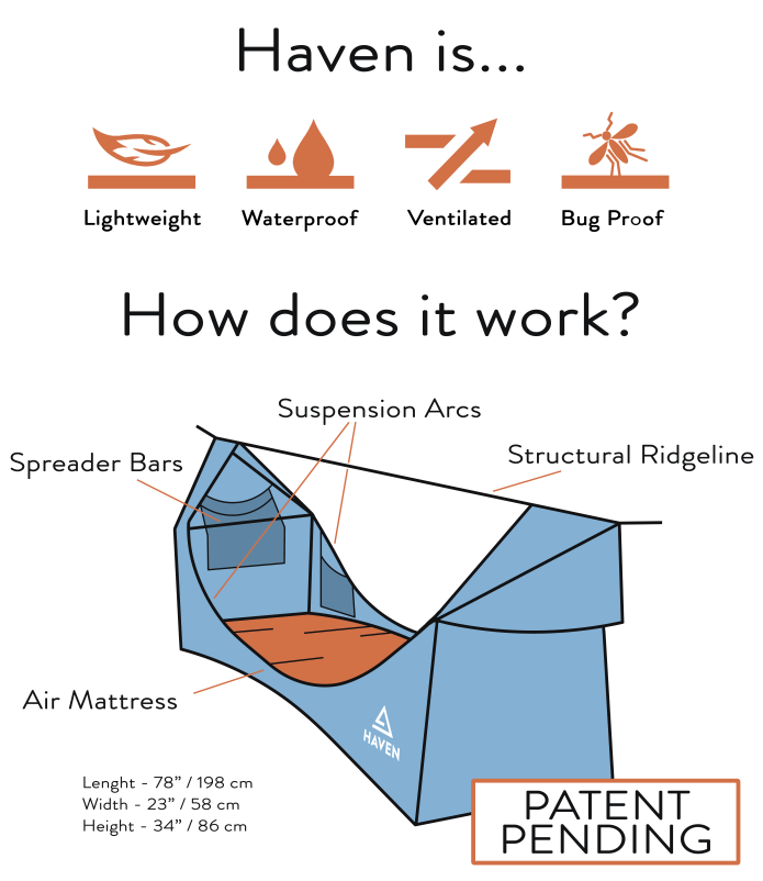 The Haven Tent, A Hammock that Won't Cramp Your Style!